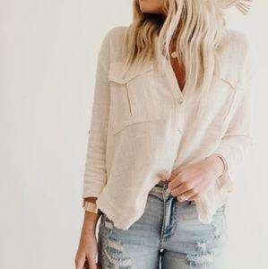 LYRIC gauze blouse - Carly Jean Los Angeles